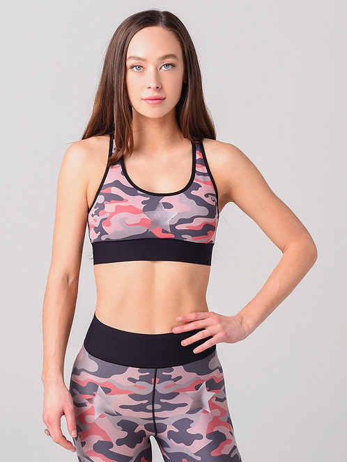 UltraCor: Luna Camo Bra in Coral