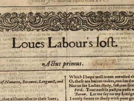 9. Love's Labour's Lost