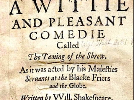 1. The Taming of the Shrew