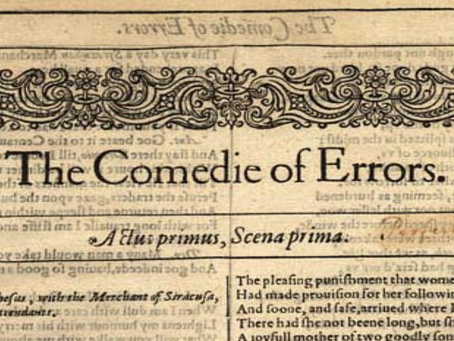 8. The Comedy of Errors