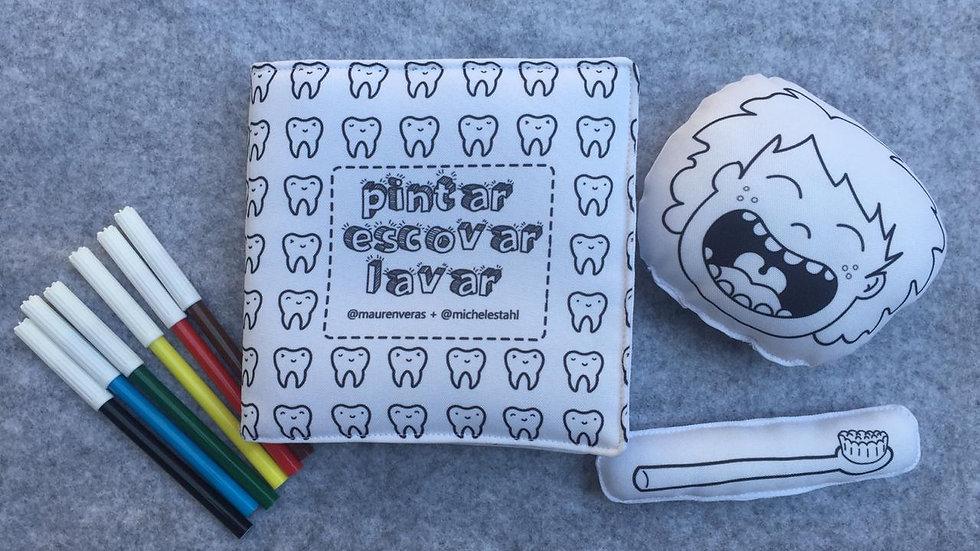 Livro de colorir Pintar Escovar Lavar
