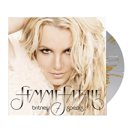 LP BRITNEY SPEARS - FEMME FATALE (GOLD AND WHITE SPLATERED CLEAR DISC)