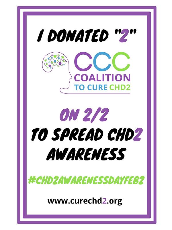 CHD2 Awareness Day Sign