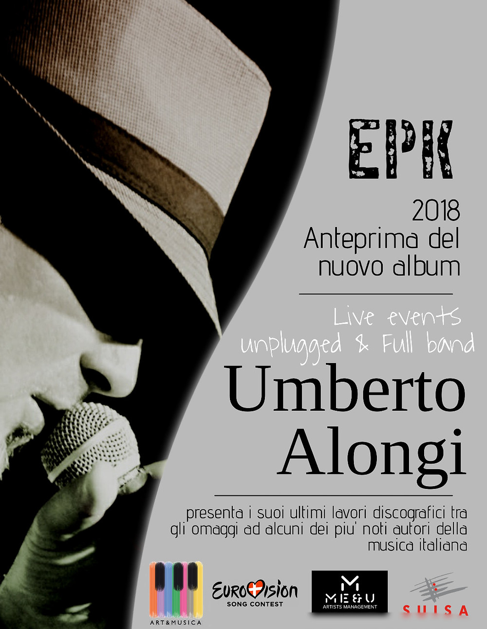 Locandina Unplugged tour 2018 Umberto Alongi