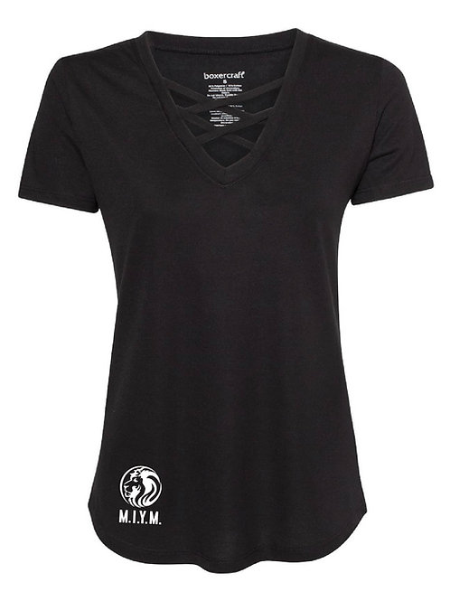 Womens V-neck Cris Cross Shirt