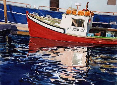 ˇhe Red Boat    12 x 16     $50.jpg