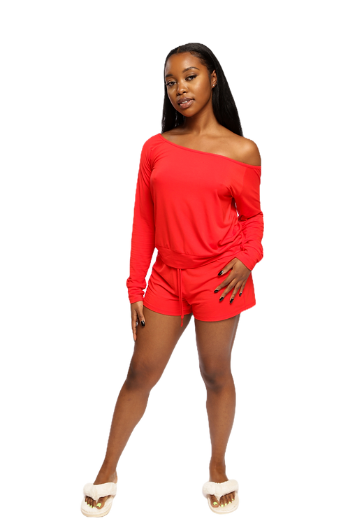 Bela Comfort Set: Off-Shoulder Shorts