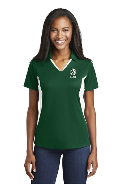 Ladies Polo Color block shirt