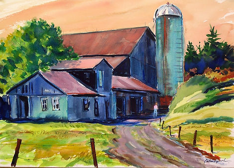 Back of the Barn    12 x 16