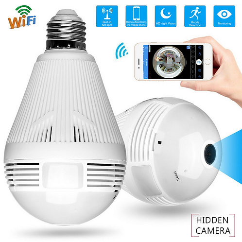 Lamp With Hidden HD Camera