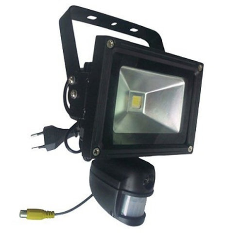 Floodlight with Spy Camera