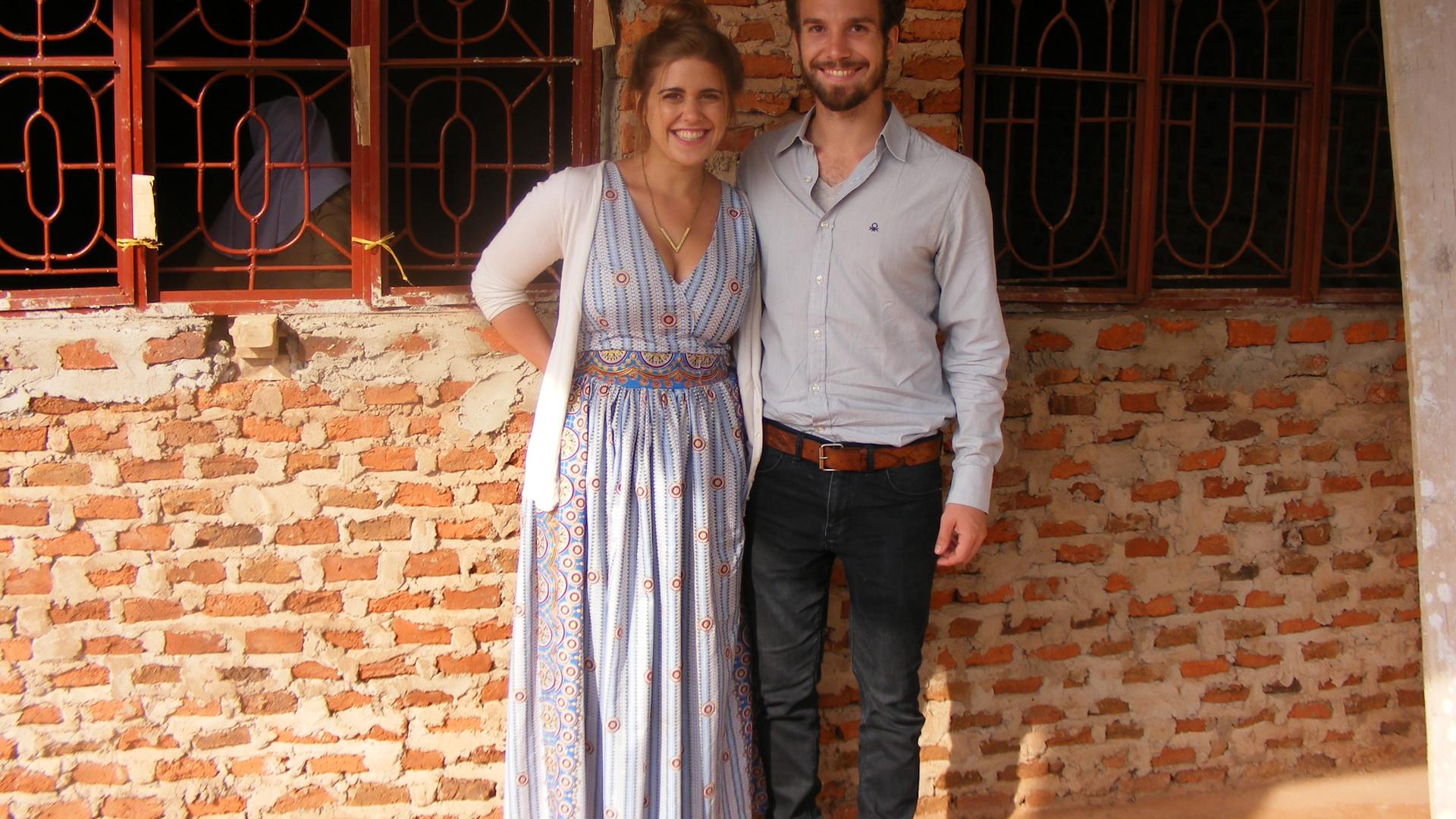 12/17 - Kathi und Felix am Tag der Offenen Tür in Chabalisa