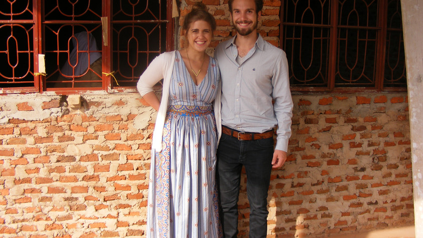 12/17 - Kathi and Felix on the open day in Chabalisa