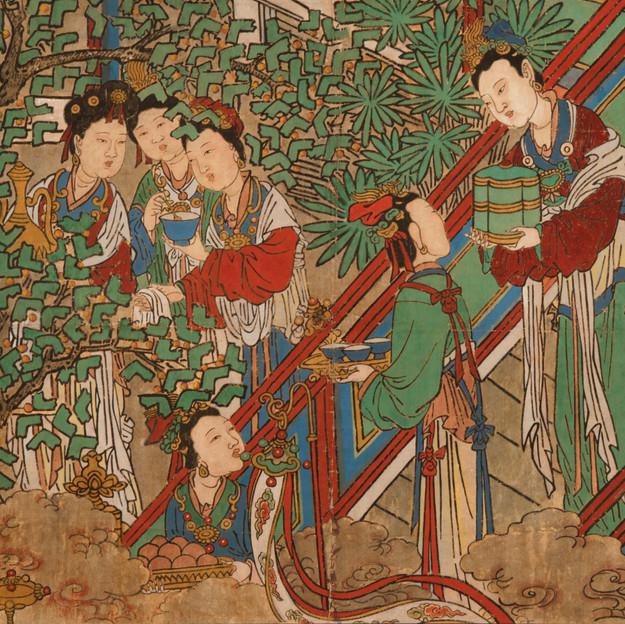 稷益庙壁画侍女图