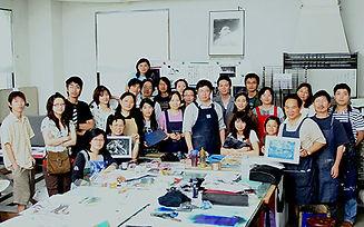 #9 2005在台湾为大学版画家和师生举办版画研习班.jpg