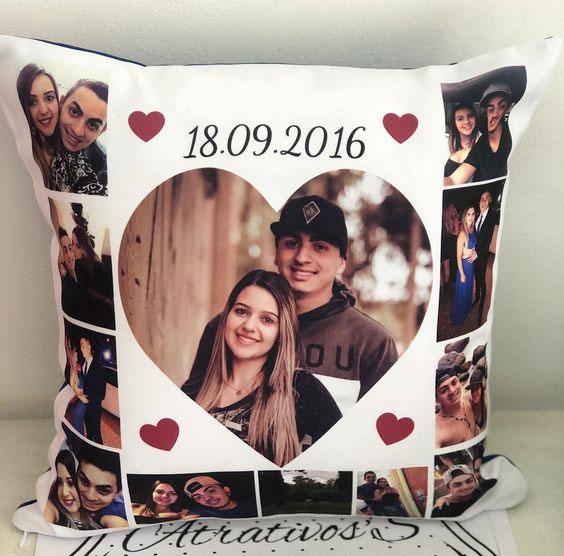 collage su cuscino