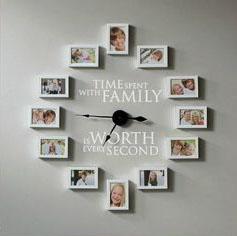 orologio murale con foto