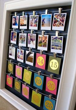 calendario dell'avvento con foto