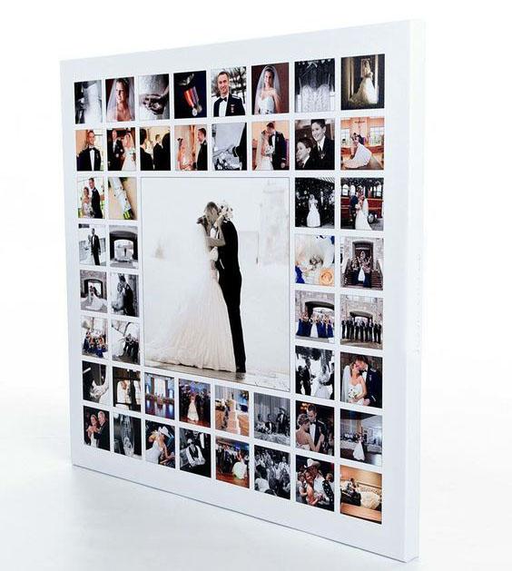 collage tela quadrato