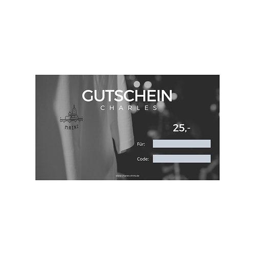 25,- Gutschein