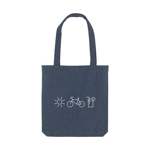 Tote Bag Sonne, Fahrrad & Limo