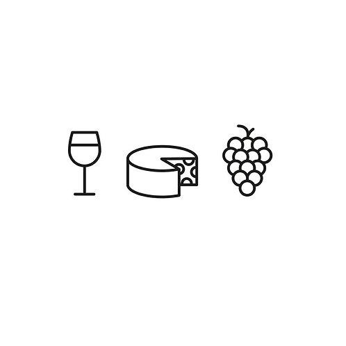 Wein, Käse & Trauben