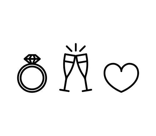 Ring, Sekt & Herz