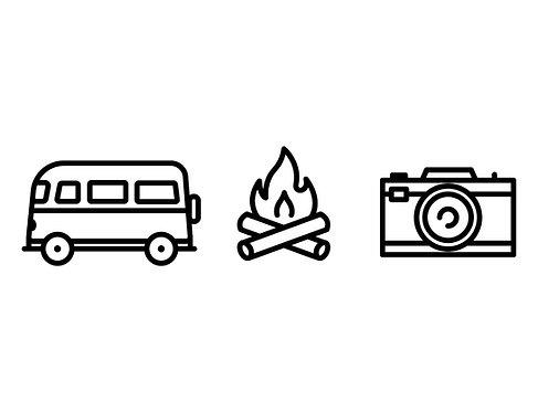 Camper, Lagerfeuer & Kamera