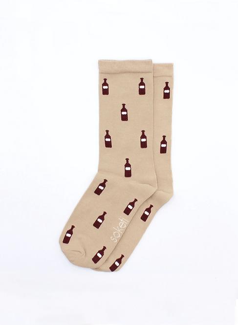 Socken Weinflasche