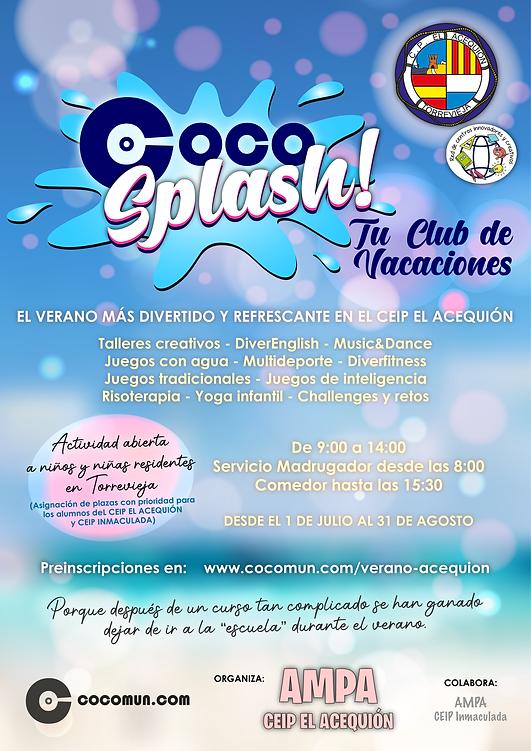 Cartel ACEQUION Coco Splash 2021