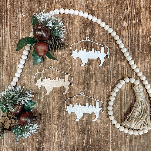 Buffalo Skyline Ornament