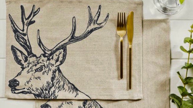 Two Stag Linen Placemats