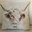 Thumbnail: Highland Cow Watercolour Cushion