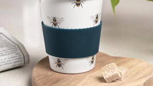 Bees Bamboo Travel Mug