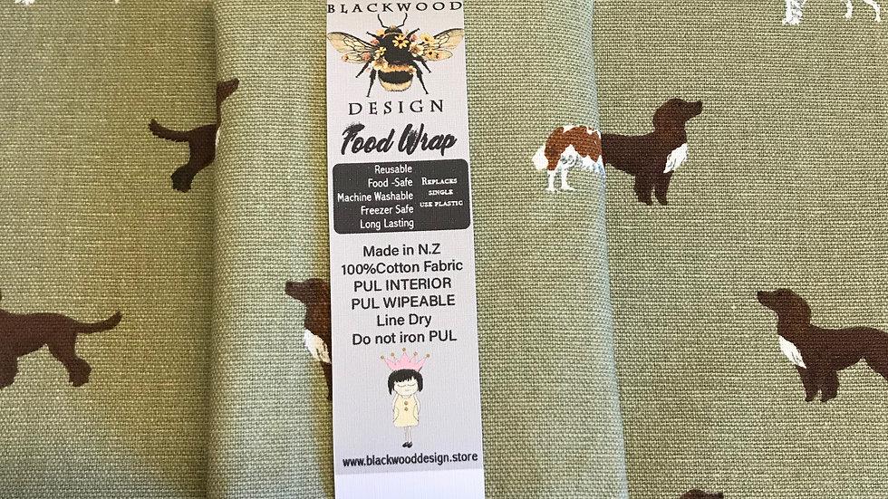 Reusable Food Wrap- Spaniels
