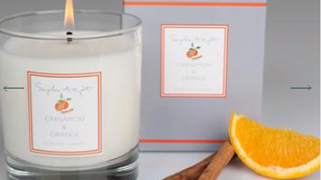 Cinnamon &Orange Scented Candle