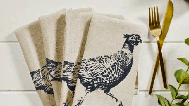 Pheasant Napkins - Set of Four