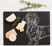 Slate Dachshund Cheese Board