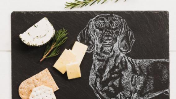 Dachshund Slate Cheese Board