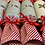Thumbnail: Set of Four Holly and Stag Christmas Reuseable Crackers