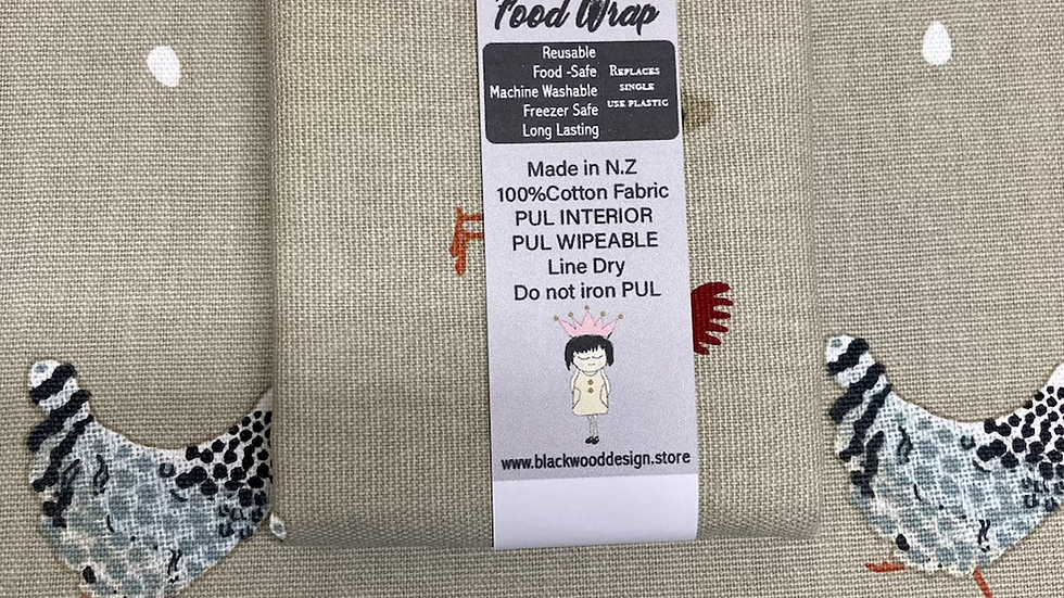 Reusable Food Wrap-Chickens