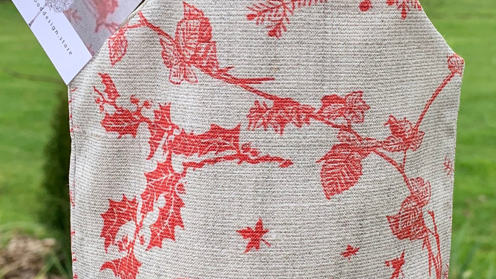 Toile Cotton Wine Bag