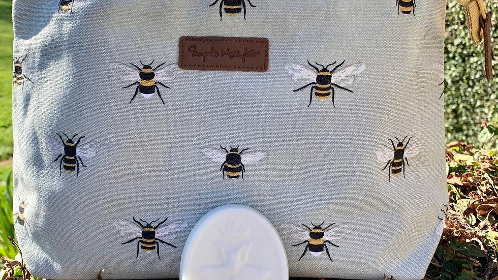 Large Canvas Bee Wash Bag