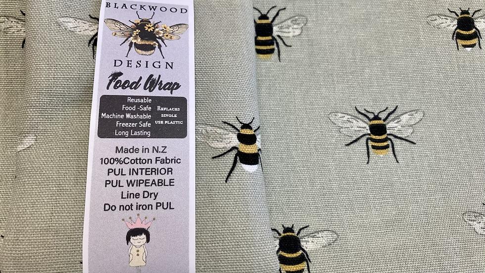 Reusable, machine washable Food Wraps - Bees