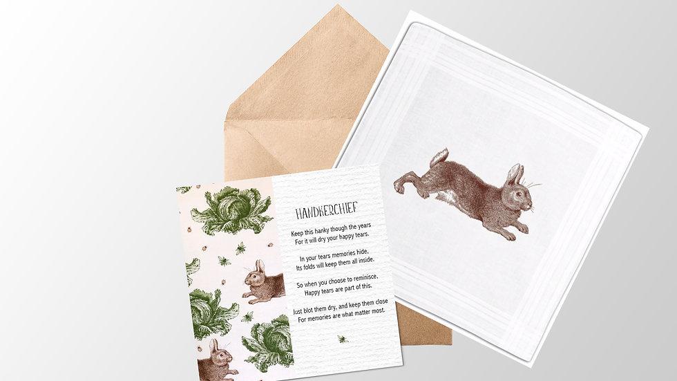Rabbit Handkerchief Card and Envelope