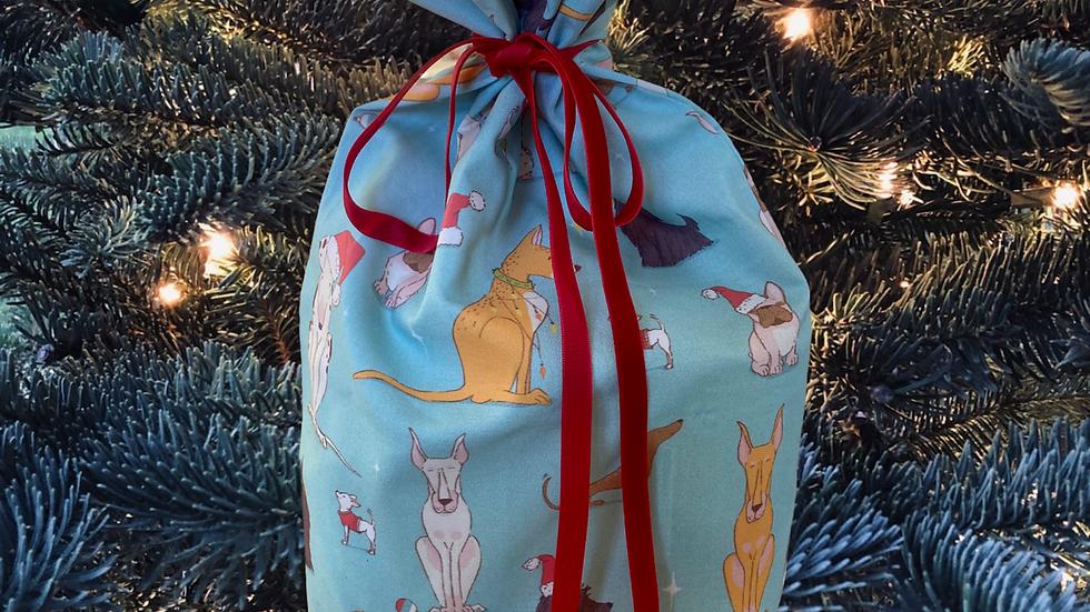 """Reusable Christmas Bag """" Christmas Dogs"""""""