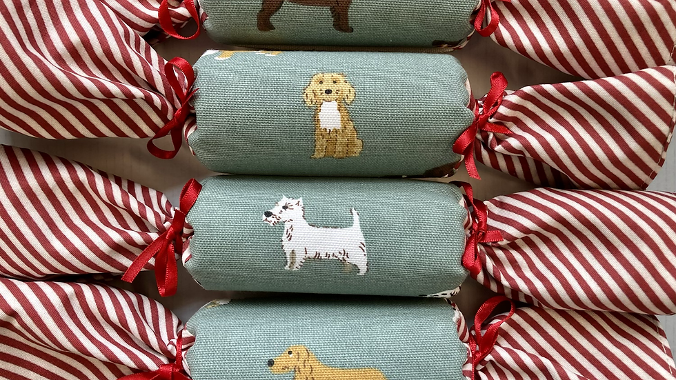 Set of Four Fetch/Holly  Reusable Crackers