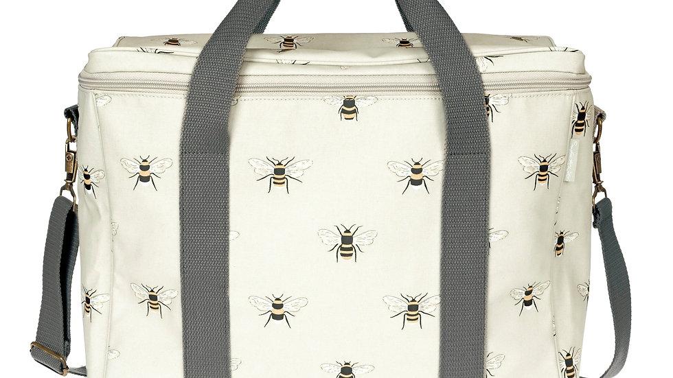 Bees Oilcloth Picnic Bag