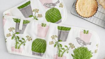 Cactus & Bird Oven Glove