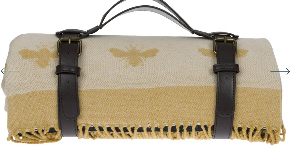 Pre Order - Bees Knitted Picnic Blanket